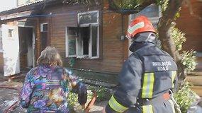 Medinio daugiabučio gaisras Panevėžyje