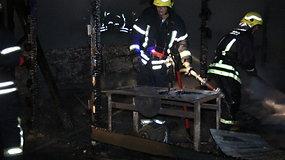Panevėžyje supleškėjo medienos dirbtuvės
