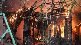 Panevėžyje sudegė sodo namelis