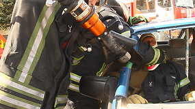 Ugniagesių profesinės šventės minėjimas Raguvoje