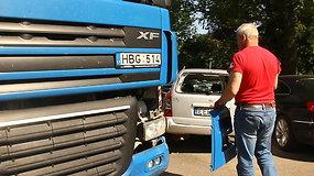 Vilkiko ir dviejų automobilių avarija Panevėžyje