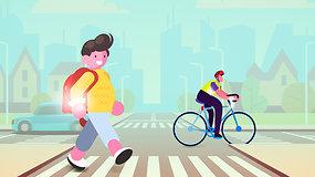 Atmintinė vaikams ir tėvams: kad vaikas būtų saugus kelyje