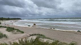 Vėjo šėlsmas Palangos paplūdimyje