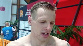 """Edgaras Matakas, tapęs Europos plaukimo čempionu žmonių su negalia rungtyje: """"Esu labai laimingas"""""""