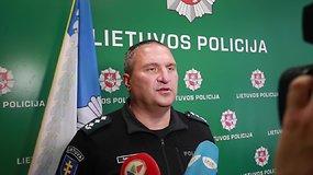 Komisaro Dariaus Žukausko komentaras apie sulaikytą grasintoją