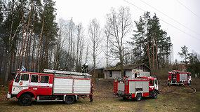 Namo gaisras Vilniaus Nemenčinės plente