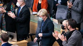 Seimo posėdis. Balsuojama dėl I.Šimonytės kandidatūros į premjerus