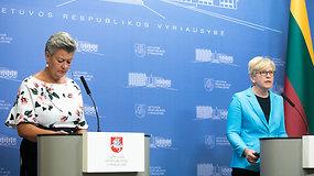 EK narės Y.Johansson ir I.Šimonytės spaudos konferencija – premjerė prašė aktyvesnės ES pagalbos migrantų krizėje