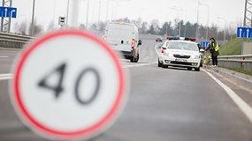 Rytinis kelių policijos reidas Vilniaus vakariniame aplinkelyje