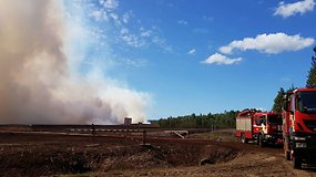 Jurgitos Andriejauskaitės komentaras iš gaisro zonos Traksėdžių durpyne