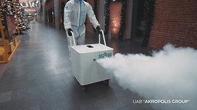 Efektyvus dezinfekcijos būdas rūko mašinomis