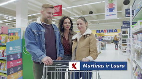 """Laura ir Martinas apsipirko kino vakarui su draugais. """"Maximoje"""" jiems apsimoka!"""