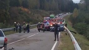 Didelė avarija kelyje Varėnos rajone
