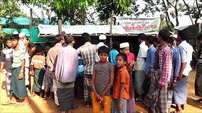 Pabėgėlių stovykloje Bangladeše vaikų nuolat tyko grėsmė