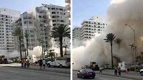 Netikėta griūtis: Majamio paplūdimyje griūdamas pastatas sužalojo žmogų
