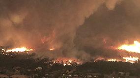 Šiaurės Kalifornijoje užfiksuotas pražūtingas ugnies tornadas