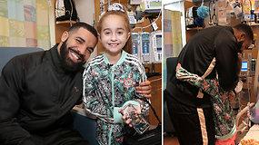 Reperis Drake'as ligoninėje nustebino naujos širdies laukiančią gerbėją