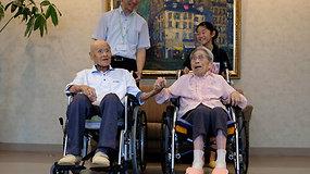 Seniausios gyvenančios poros bendras amžius 208 m.: jų paslaptis – kantrybė
