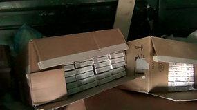 Kenos geležinkelio stotyje sulaikyta beveik 3 mln. eur. vertės cigarečių kontrabanda