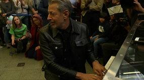 """""""Juros periodo parko"""" žvaigždė Jeffas Golblumas nustebino Londono keleivius"""
