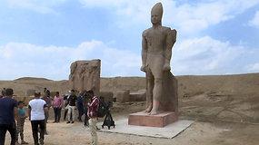 Egipte atidengti restauruoti karaliaus Ramzio II-ojo kolosai