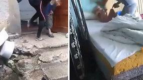 Nufilmuotas smurtas prieš vaikus Pakruojo rajone
