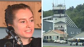 Pirmasis savarankiškas skrydis 17-metei pilotei tapo tikru meistriškumo egzaminu