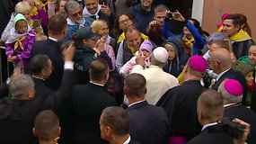 Popiežiaus Pranciškaus poelgis ištirpdė susirinkusiųjų širdis