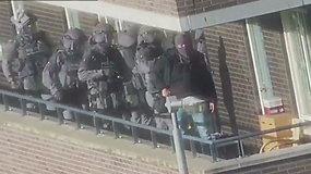 Paviešintas didžiulę teroristinę ataką ketinusių surengti asmenų sulaikymo vaizdo įrašas