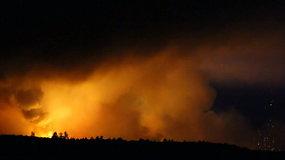 Ukrainoje įvyko sprogimas techninėje teritorijoje: užsiliepsnojo didelis šaudmenų sandėlis