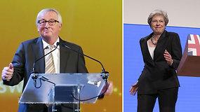 Mokosi iš T.May: Jeanas-Claude'as Junckeris atkartojo Didžiosios Britanijos ministrės šokių judesius