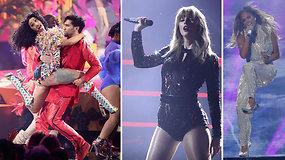 Įspūdingi Amerikos muzikos apdovanojimų pasirodymai