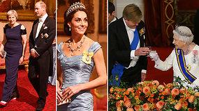 Bakingamo rūmuose surengtas iškilmingas banketas Nyderlandų monarchų garbei