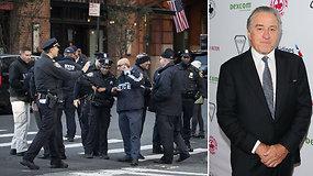Į negailestingai D.Trumpą kritikuojančio Roberto De Niro restoraną atsiųstas sprogmuo