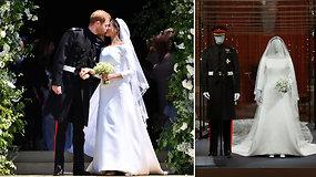 Išskirtinė proga karališkosios šeimos gerbėjams: Meghan Markle ir princo Harry vestuviniai drabužiai tapo parodos eksponatais