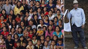 Vyras ir 39 jo žmonos gyvena po vienu stogu:  vienai gausiausių šeimų pasaulyje priklauso 181 asmuo