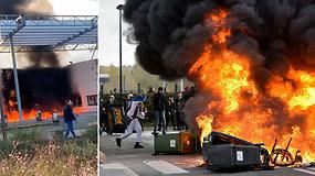 Mokiniai padeginėja mokyklas: prie nerimstančių protestų Prancūzijoje prisijungė ir pasipiktinęs jaunimas