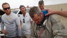 Priešpaskutinį etapą įveikęs Balys Bardauskas: įstrigus pagalbos ranką ištiesė amerikietis