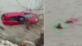 Dramatiška gelbėjimo operacija turistų pamėgtame kurorte – pakilęs upės vanduo nusinešė merginą gelbėjusį vyrą