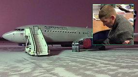 Rusijoje girtas keleivis bandė užgrobti lėktuvą – reikalavo skristi į Afganistaną
