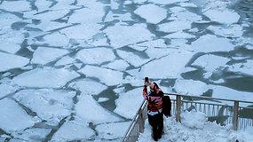 Šalčiau nei Antarktidoje: JAV sukaustys pavojų gyvybei keliantis arktinis šaltis