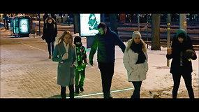 Išmani apsauga pėstiesiems: prie perėjų Klaipėdoje įrengtos šviečiančios LED juostos