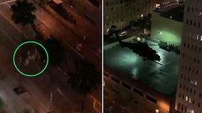Ginklų ir sraigtasparnių keliamas triukšmas nustebino gyventojus – susirūpino, kas dedasi mieste