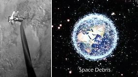 Susidūrimas su kosmoso šiukšlėmis gali sukelti katastrofą – nuo jos apsaugos atliekų gaudyklė