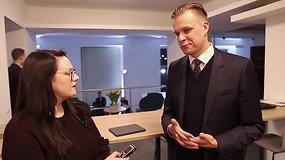 Gabrielius Landsbergis partijos rezultatus vertina optimistiškai