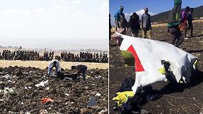 Sudužo į Keniją skridęs lėktuvas su 157 žmonėmis: nelaimės vietoje renkami žmonių kūnai, daiktai ir nuolaužos