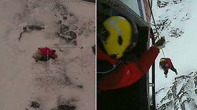 Išgelbėjo atsitiktinumas: kalnuose paklydusį šuniuką po 48 val. pastebėjo ant siauros briaunos