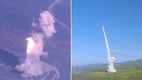 """JAV pirmąkart paleido dviejų raketų gaudyklių """"salvę"""" – sėkmingai išbandė priešraketinės gynybos sistemą"""