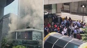 Prabangiame viešbutyje Singapūre kilus gaisrui buvo evakuoti 500 žmonių