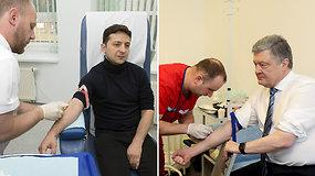 Prieš debatus kandidatai į Ukrainos prezidentus atliko narkotikų testą